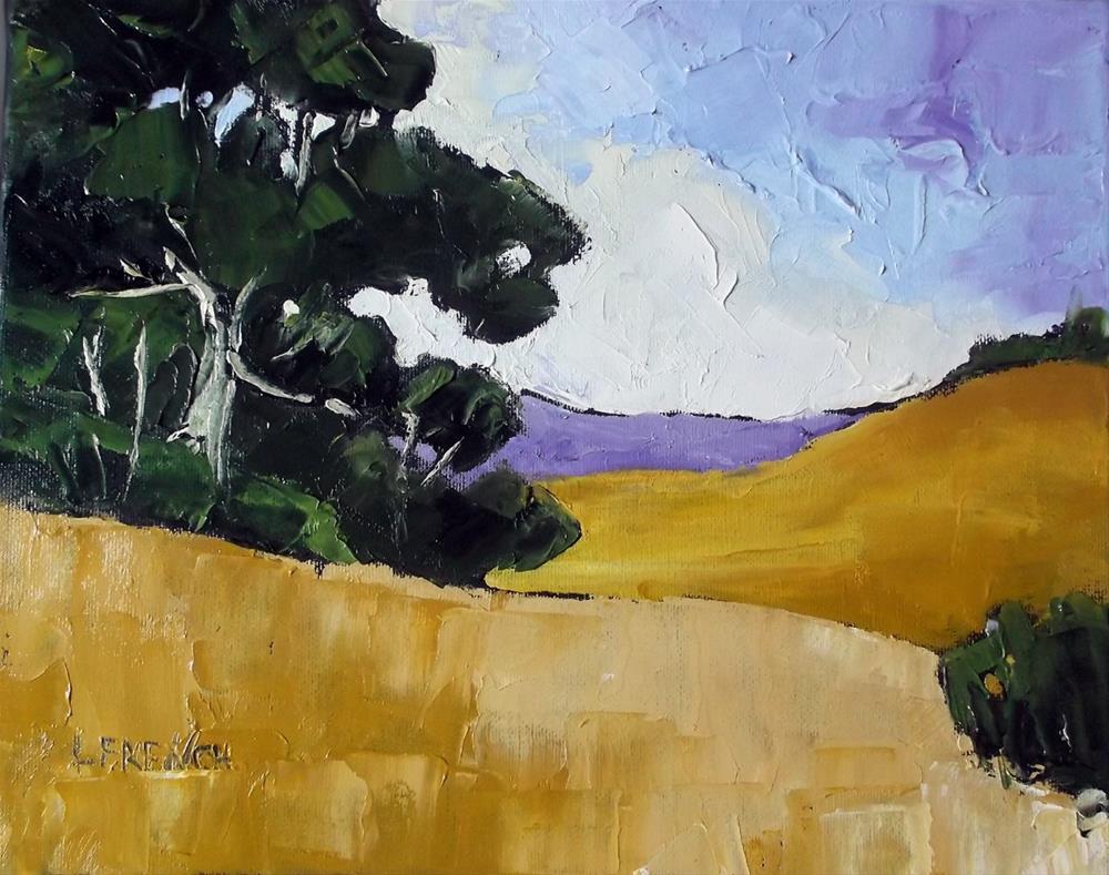 """""""California Santa Maria Meadows"""" original fine art by lynne french"""