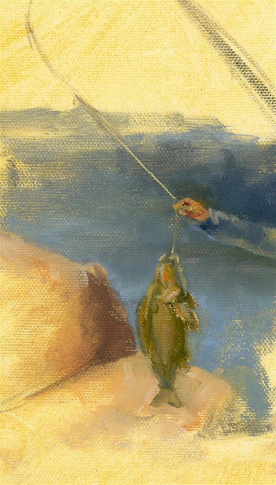 """Todays' Catch Study I"" original fine art by Susanne Billings"
