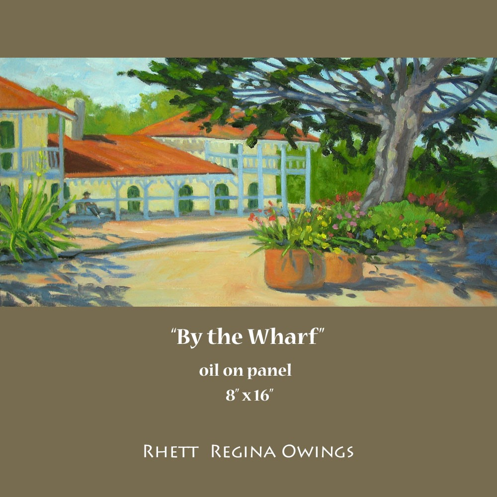 """By the Wharf"" original fine art by Rhett Regina Owings"