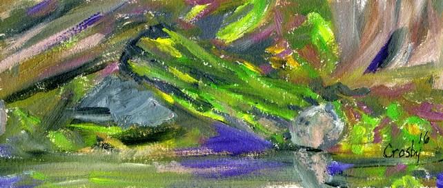 """""""Damp Ground"""" original fine art by Donna Crosby"""