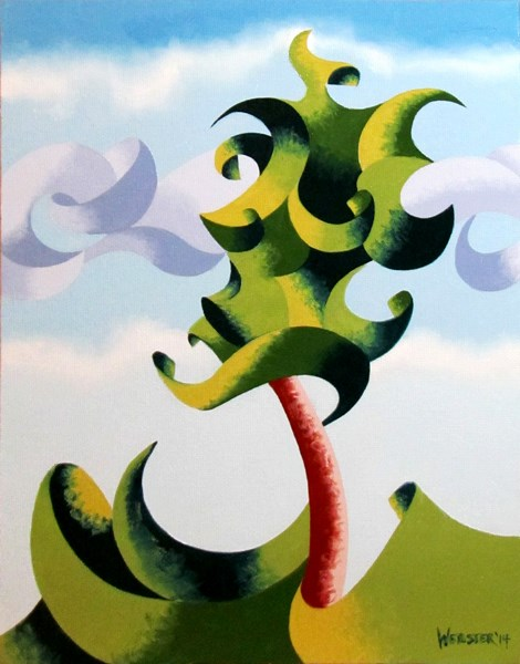 """Mark Adam Webster - Abstract Geometric Landscape Oil Painting 9.9.14"" original fine art by Mark Webster"