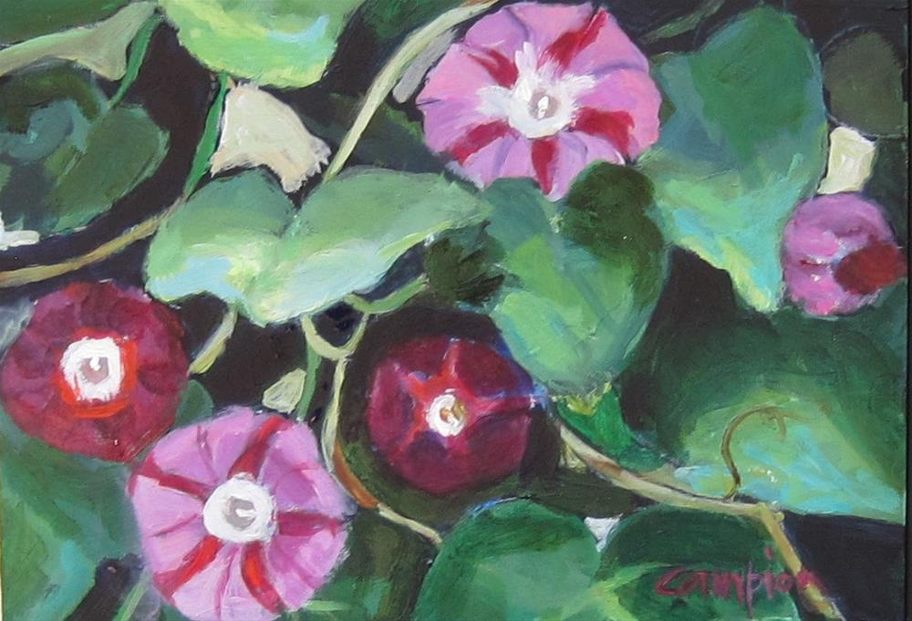 """131 Hybrid Morning Glories"" original fine art by Diane Campion"