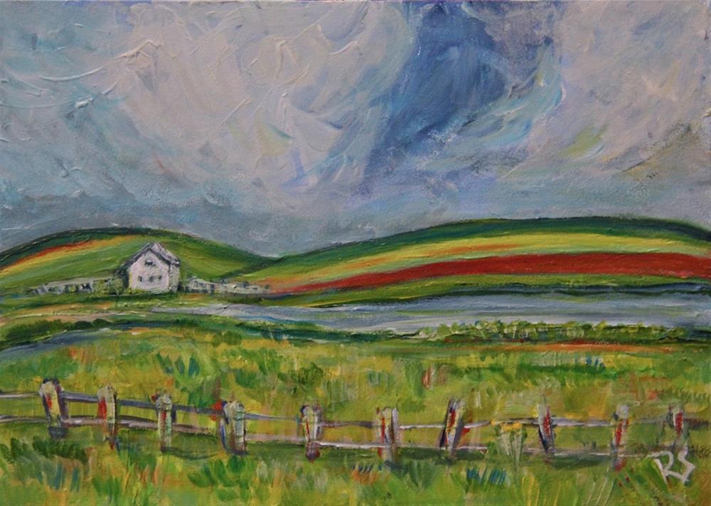 """Our Summer Cottage"" original fine art by Roberta Schmidt ArtcyLucy"