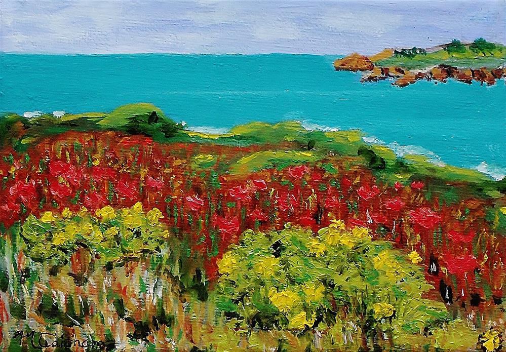 """Sonoma Coast with Widflowers"" original fine art by Mike Caitham"