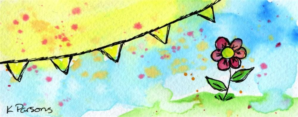 """Sunshine"" original fine art by Kali Parsons"