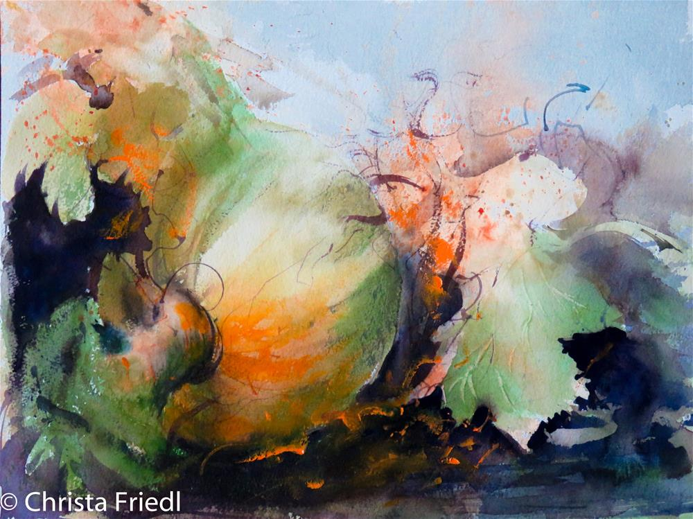 """Fall Time - Pumkin Time"" original fine art by Christa Friedl"