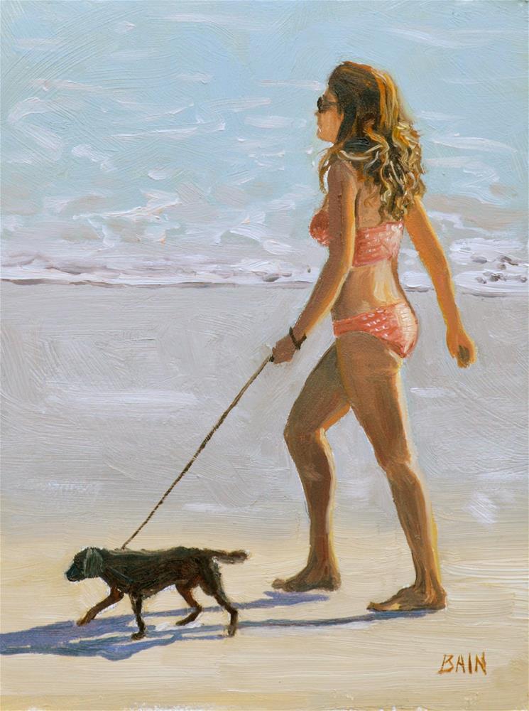"""Beauty and the Beast"" original fine art by Peter Bain"