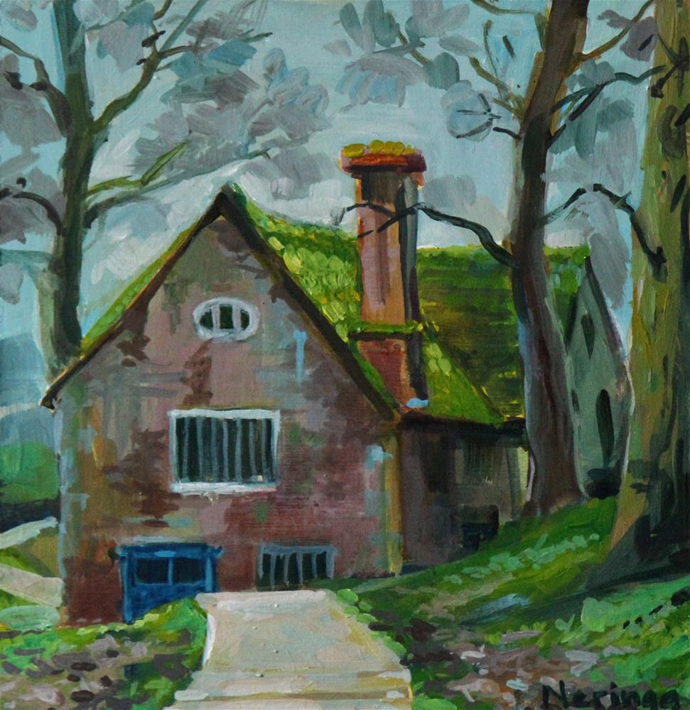 """""""An Old Mill"""" original fine art by Neringa Maxwell"""