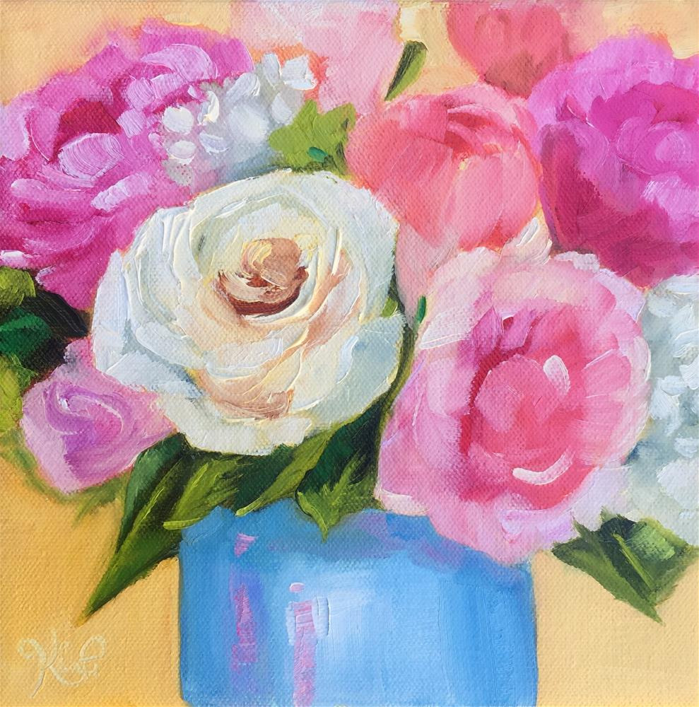 """Spring bouquet #4"" original fine art by Kim Peterson"