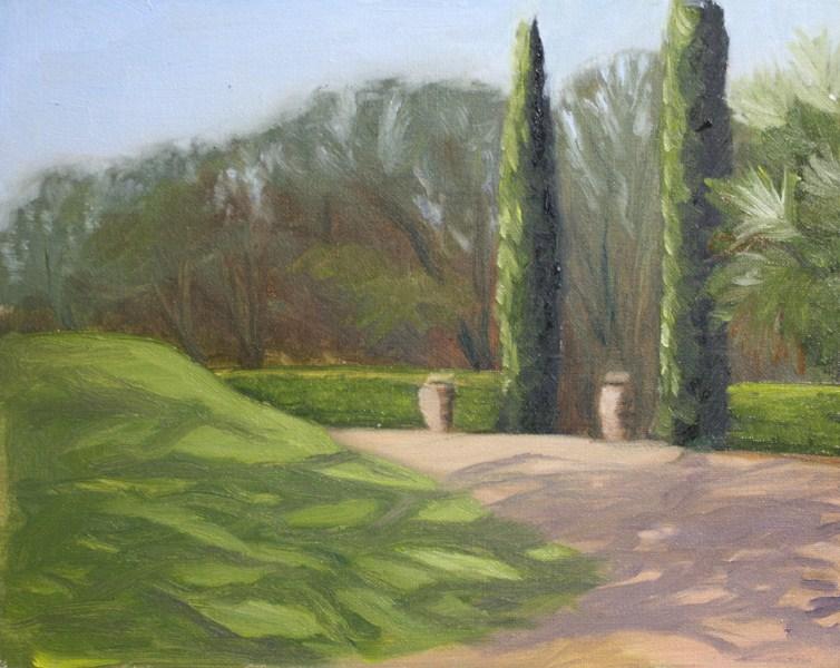 """""""Garden Shadows"""" original fine art by Jane Frederick"""