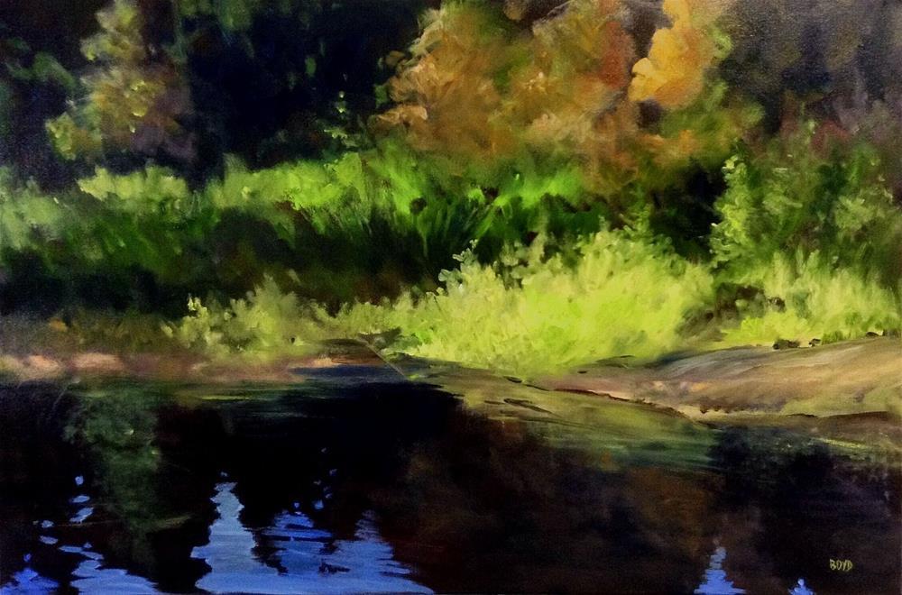 """Dark Shoreline 2"" original fine art by Cathy Boyd"
