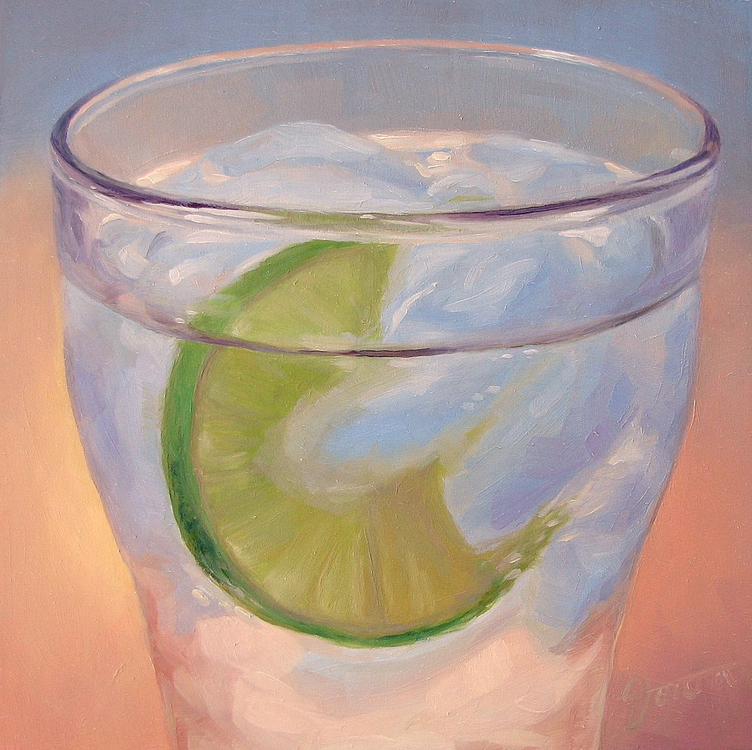 """Ice Water With Lime-2"" original fine art by Joanna Bingham"