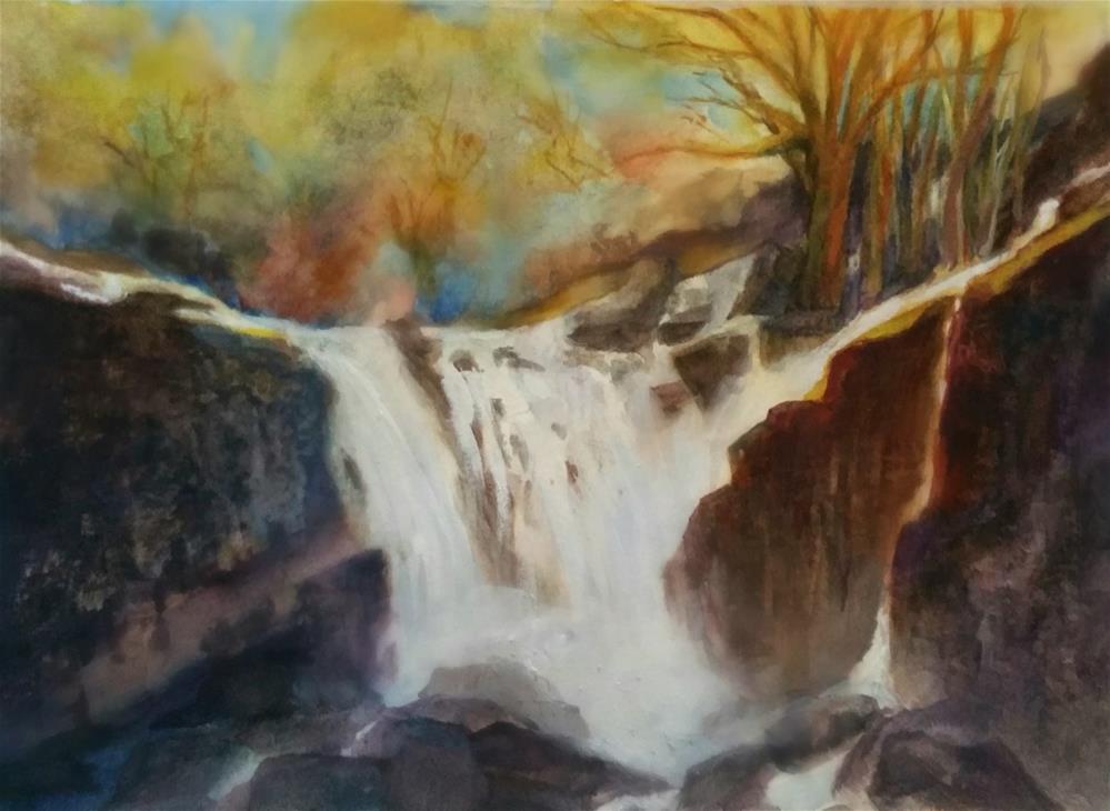 """""""Grand waterfall"""" original fine art by Dana C"""