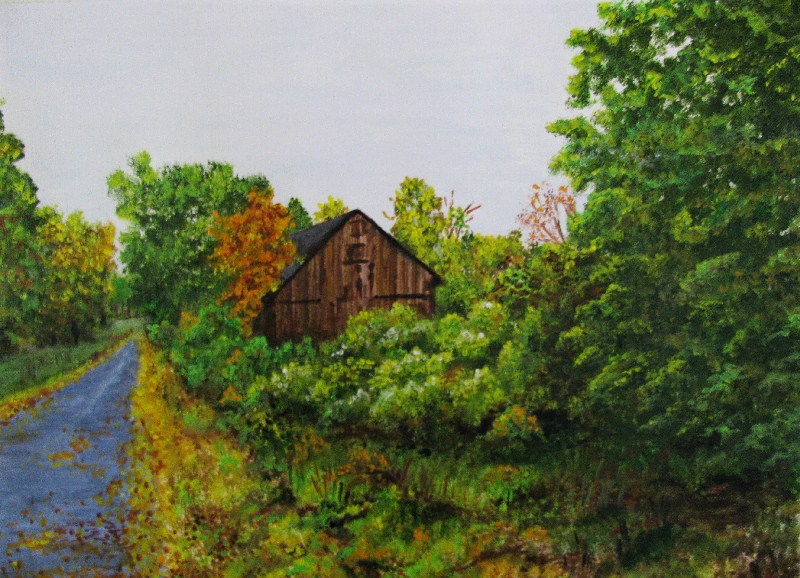 """Engulfed"" original fine art by Nan Johnson"