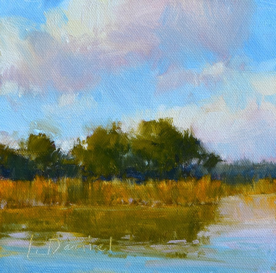"""Lush Lagoon Study"" original fine art by Laurel Daniel"
