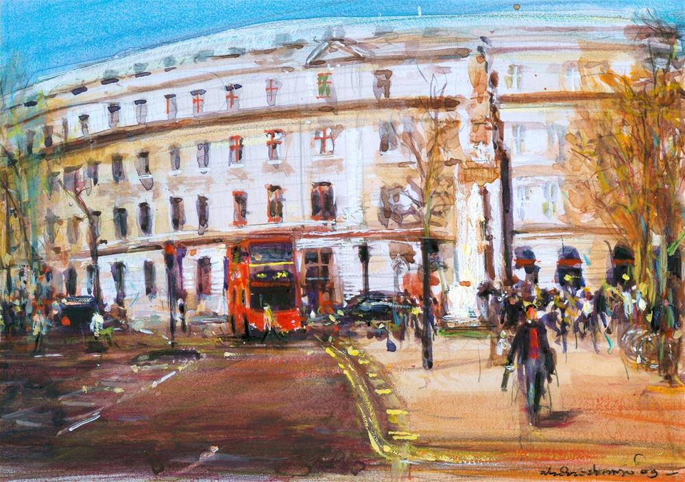 """Charing Cross Road"" original fine art by Adebanji Alade"