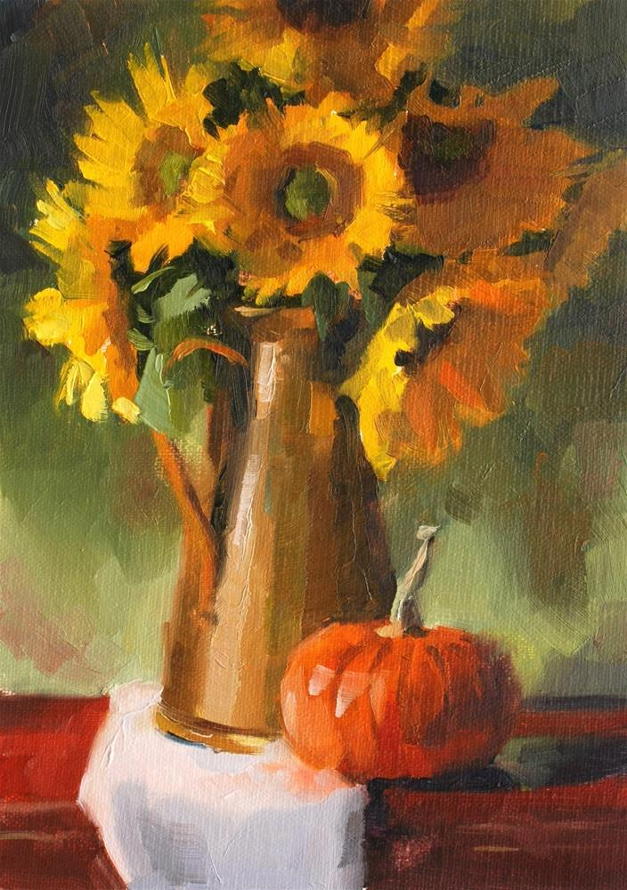 """No. 660 Valley Sunflowers"" original fine art by Susan McManamen"