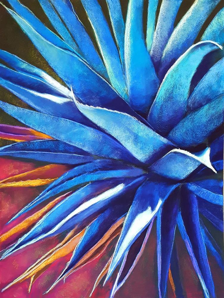 """Blue Agave Supernova"" original fine art by Anna Lisa Leal"