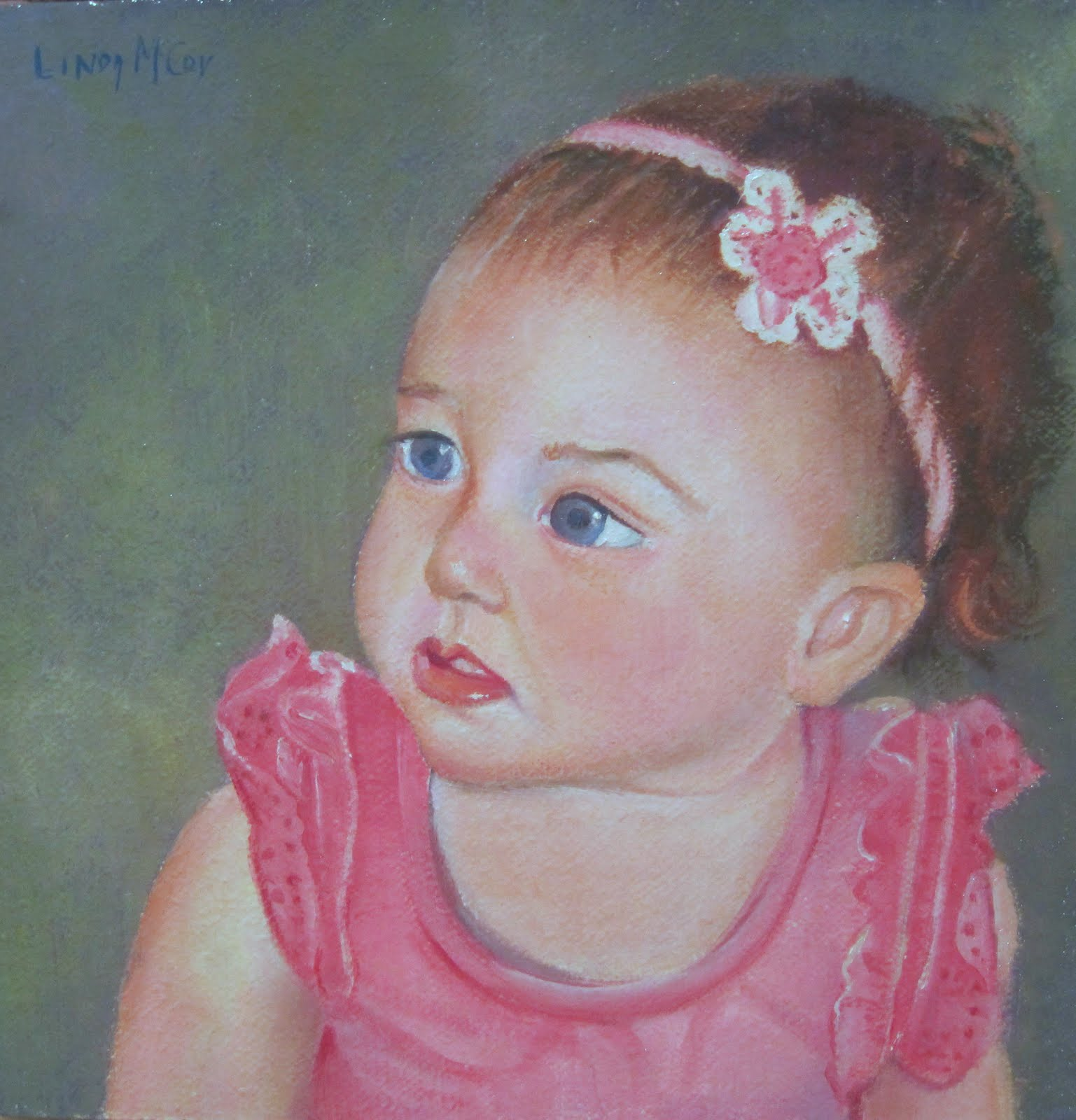"""Lily, Oil painting by Linda McCoy"" original fine art by Linda McCoy"