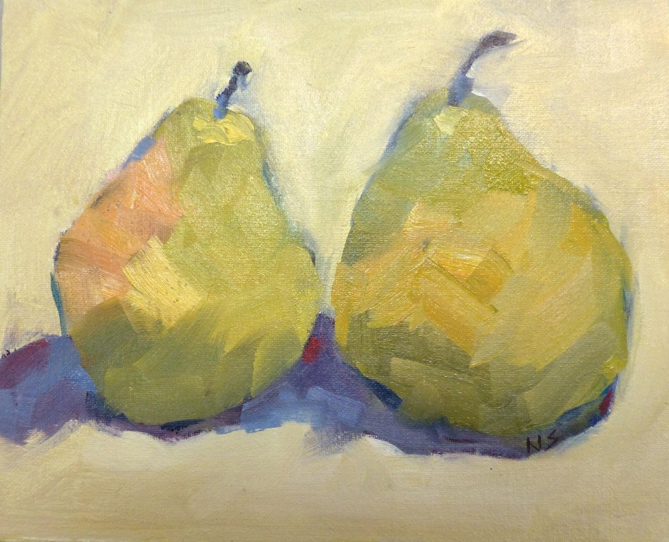"""Atlanta Pears 14026"" original fine art by Nancy Standlee"