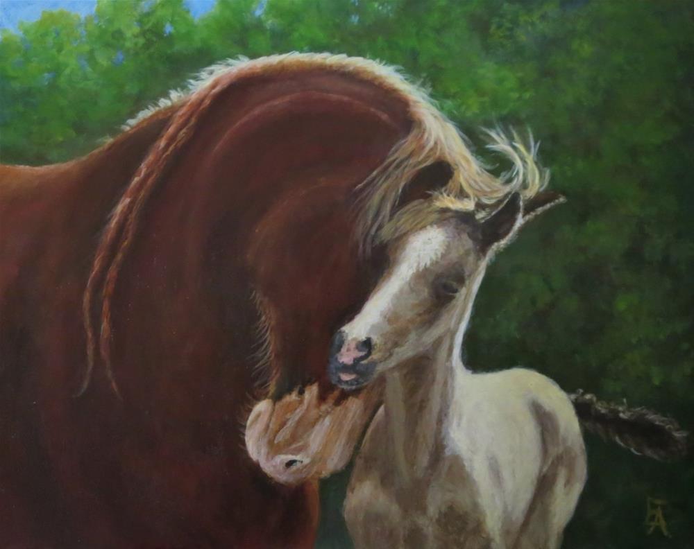 """Mother's Love"" original fine art by Elizabeth Elgin"