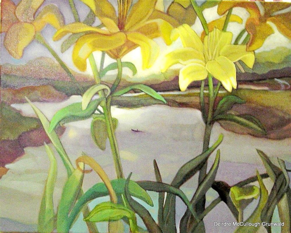 """""""Gone Fishing(Daffodils)"""" original fine art by Deirdre McCullough Grunwald"""
