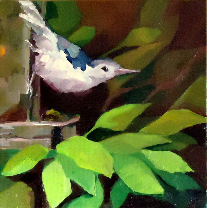 """""""Out on a Limb"""" original fine art by Laurie Mueller"""