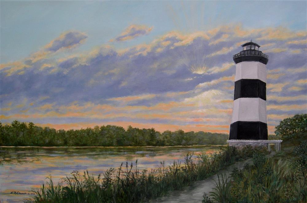 """""""Little River Light # 2 (C) 2009 by K. McDermott"""" original fine art by Kathleen McDermott"""