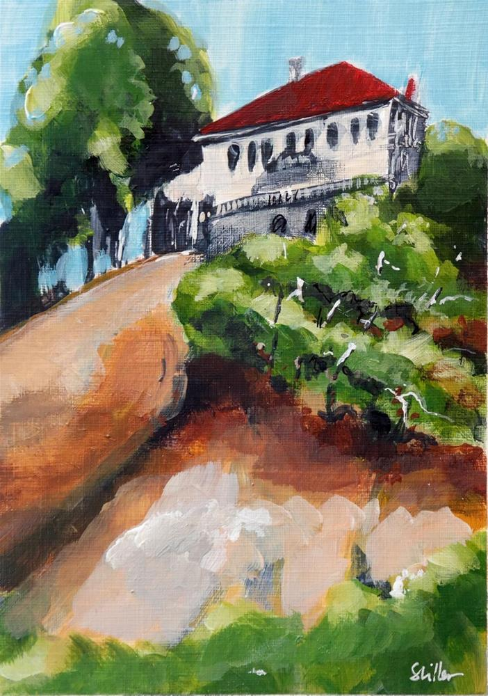 """2114 Villa in the Hills"" original fine art by Dietmar Stiller"