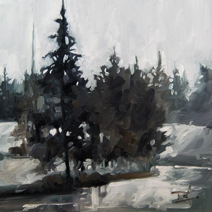 """No 410 Winter Creek"" original fine art by Robin J Mitchell"
