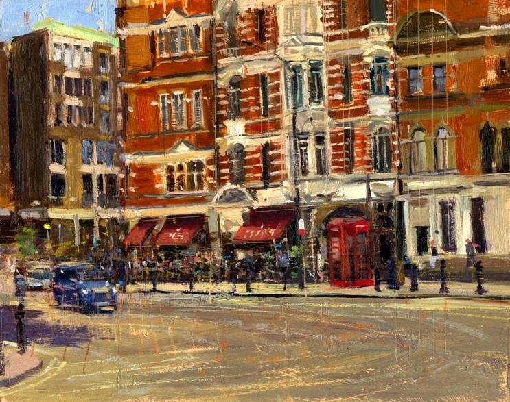 """Summer Heat Sloane Square"" original fine art by Adebanji Alade"