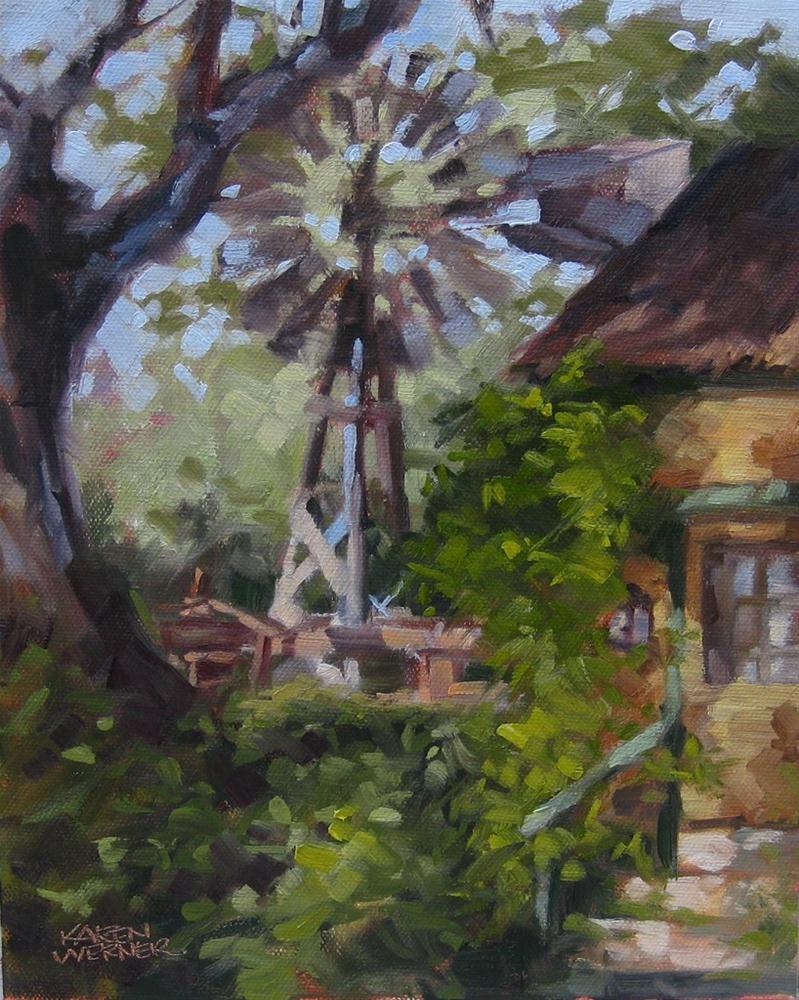 """""""Galleano Windmill"""" original fine art by Karen Werner"""