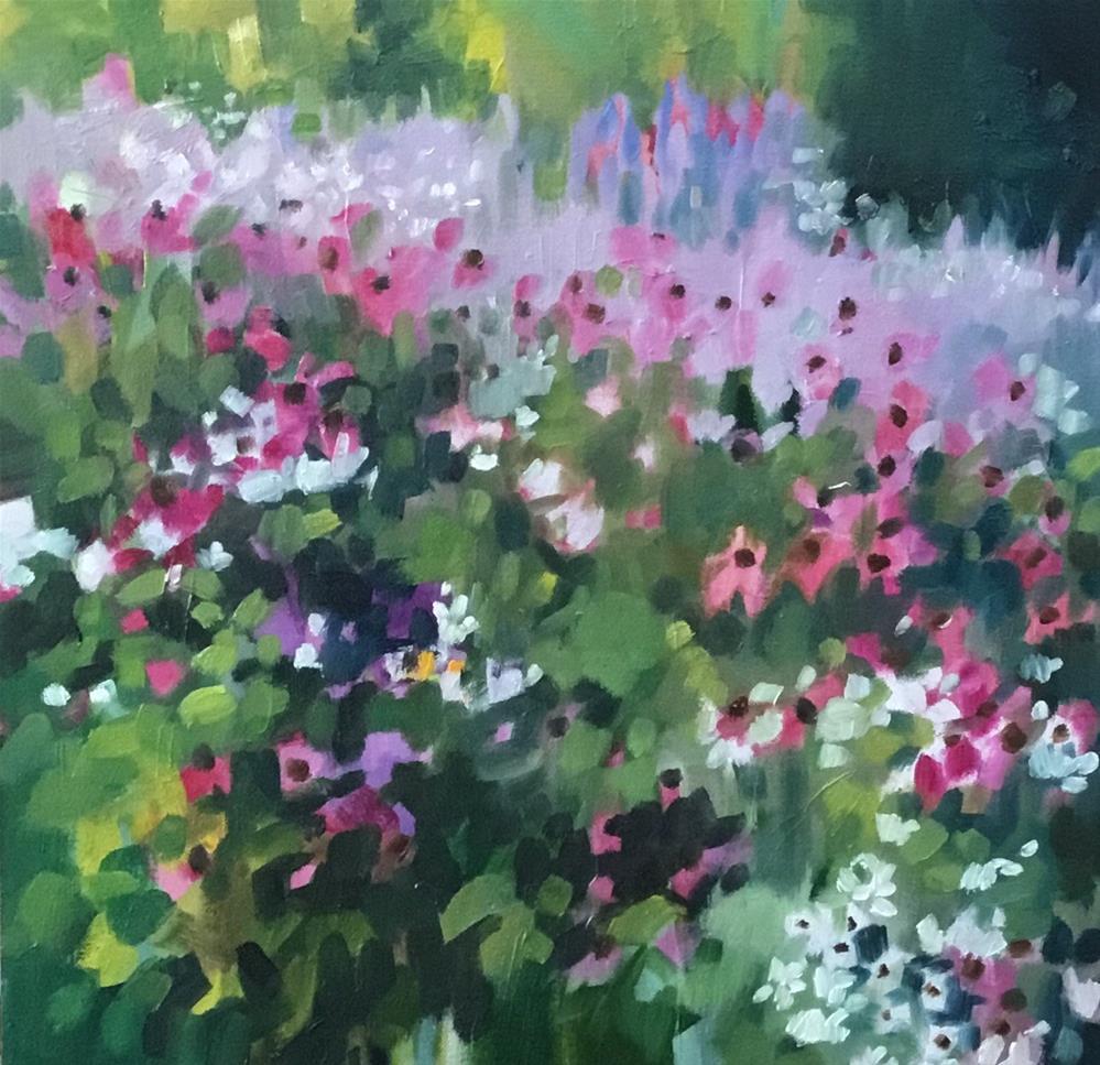 """Cool Garden"" original fine art by Libby Anderson"