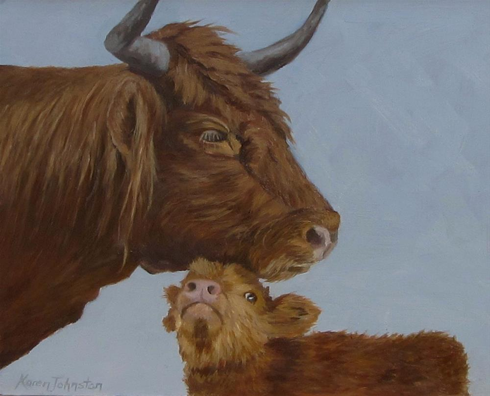 """Mother Love"" original fine art by Karen Johnston"