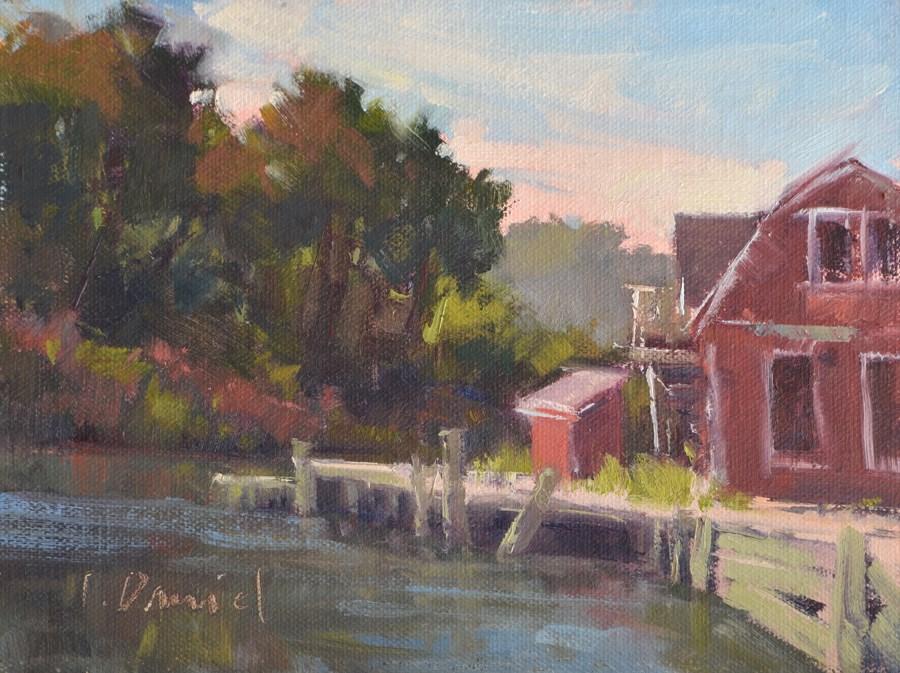 """Forgotten Boathouse"" original fine art by Laurel Daniel"