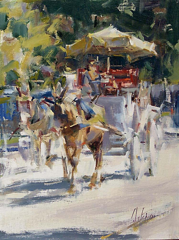 """Carriage Ride, New Orleans"" original fine art by Mike Peterson"
