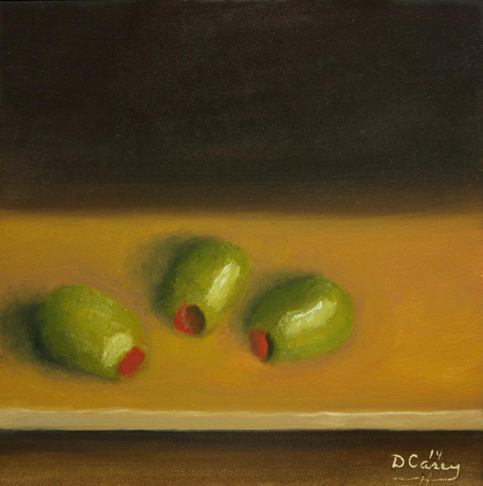 """""""140826 - Kitchen Painting - Olives 001a"""" original fine art by Dave Casey"""