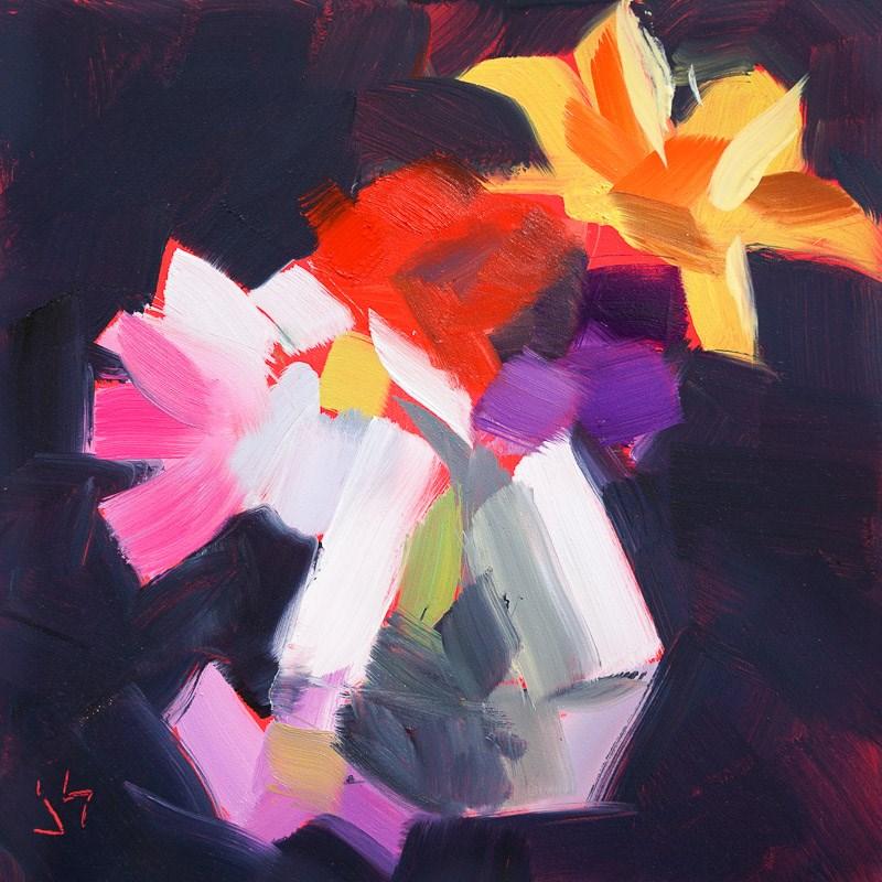 """""""The Club"""" original fine art by Johnna Schelling"""