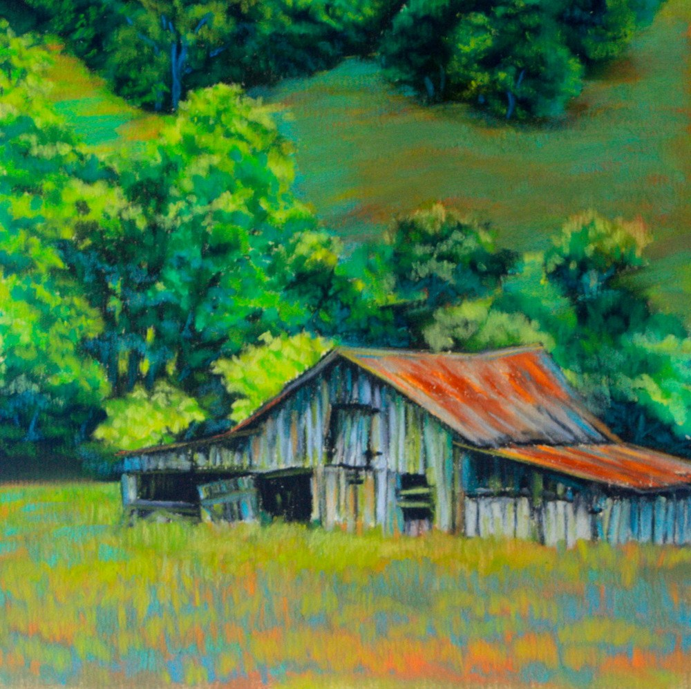 """Green Isolation"" original fine art by Jill Bates"