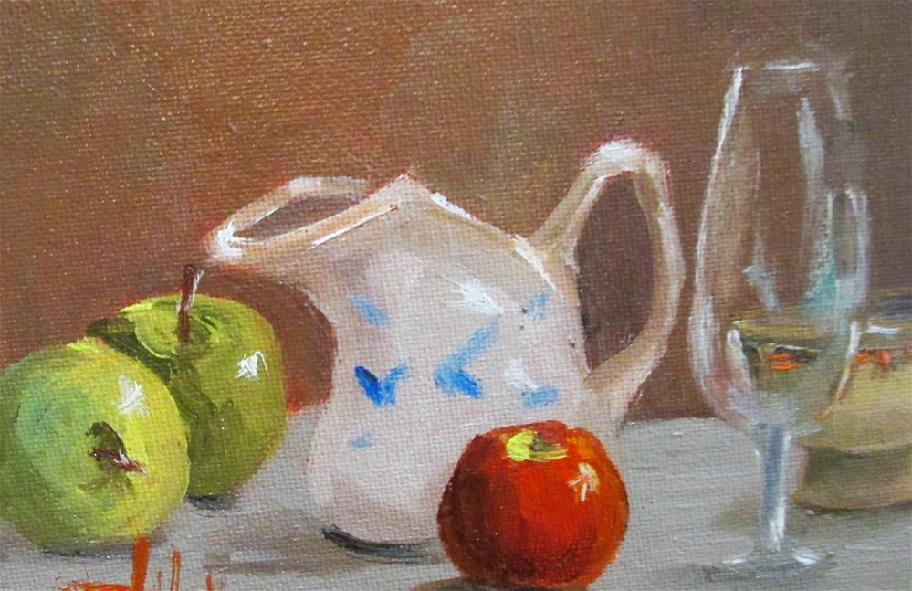 """Apples and Pitcher"" original fine art by Delilah Smith"