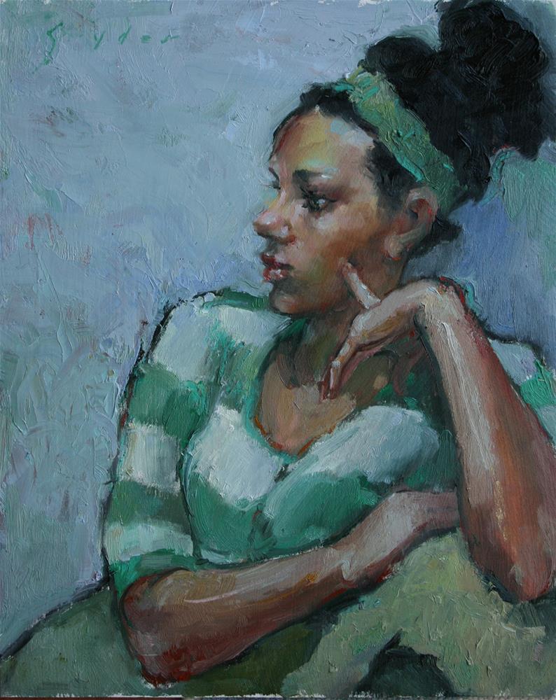 """Peppermint"" original fine art by Julie Snyder"