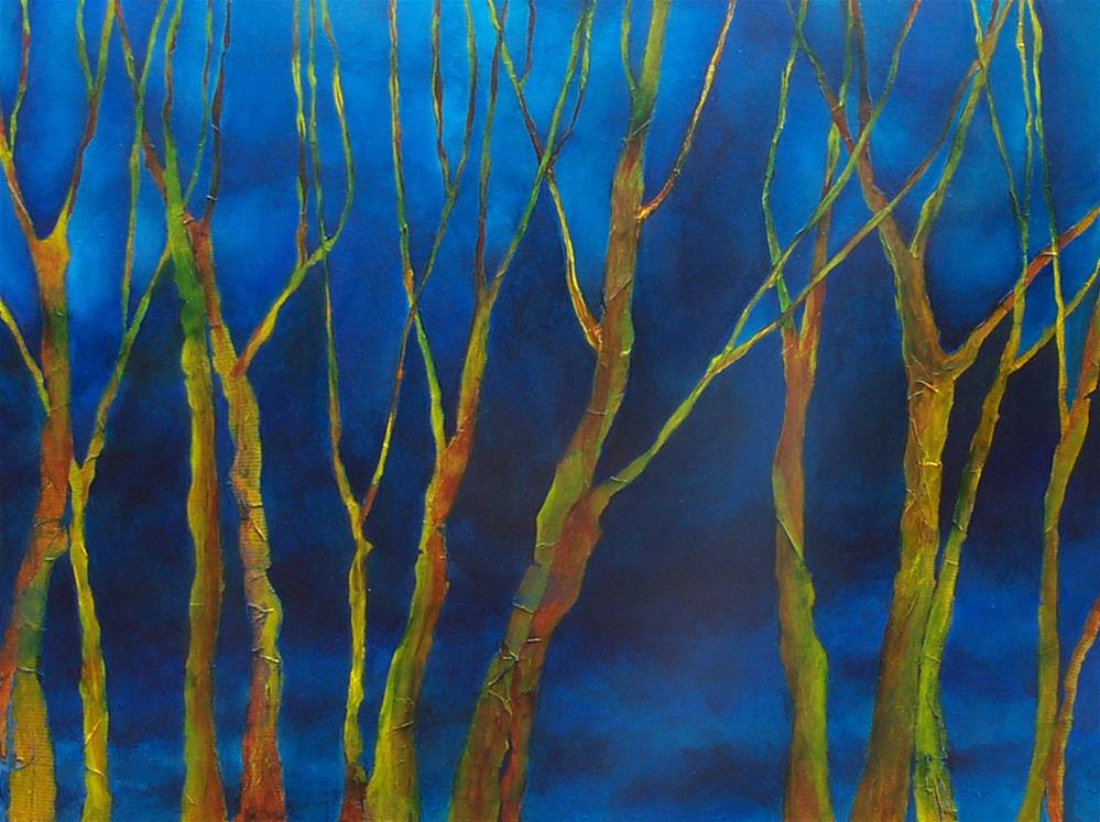 """Trees in Blue"" original fine art by Anne Ducrot"