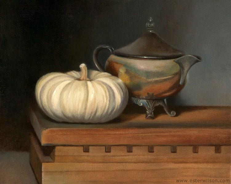 """Cream"" original fine art by Ester Wilson"