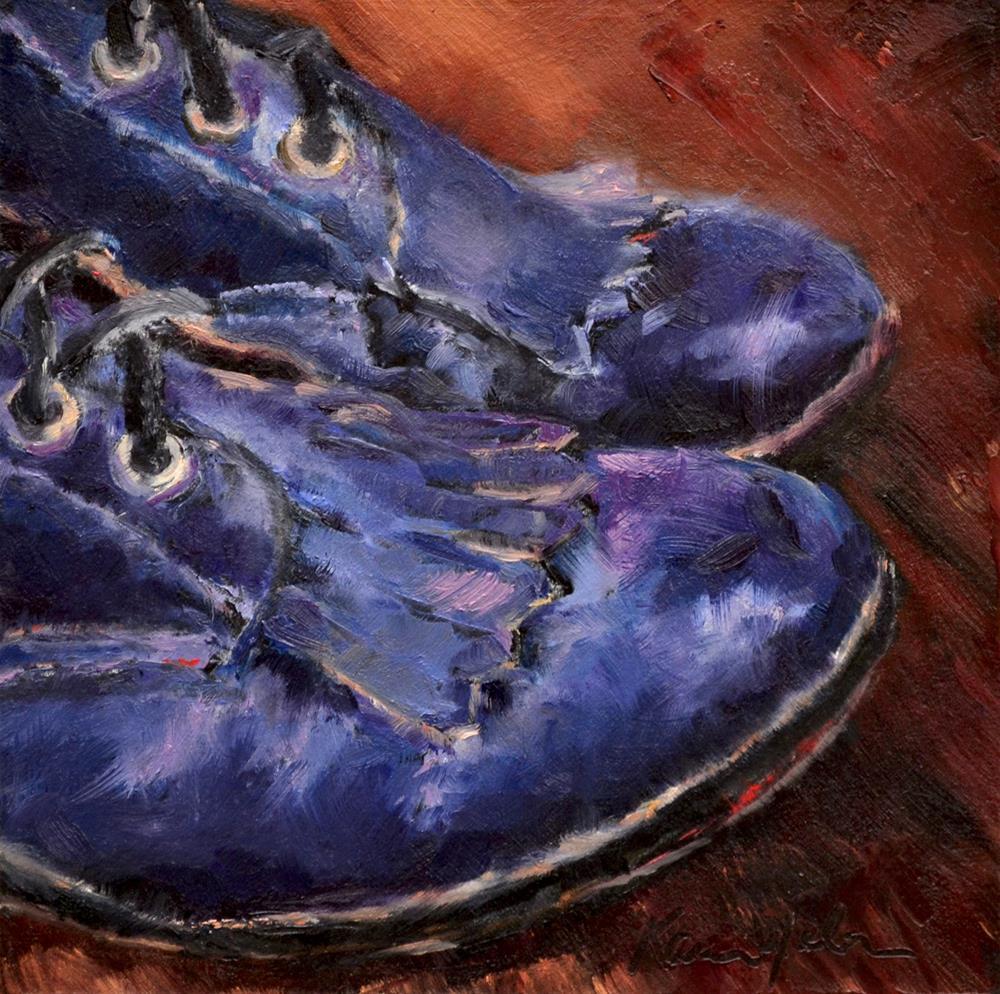 """Blue Suede Shoes"" original fine art by Karen Weber"