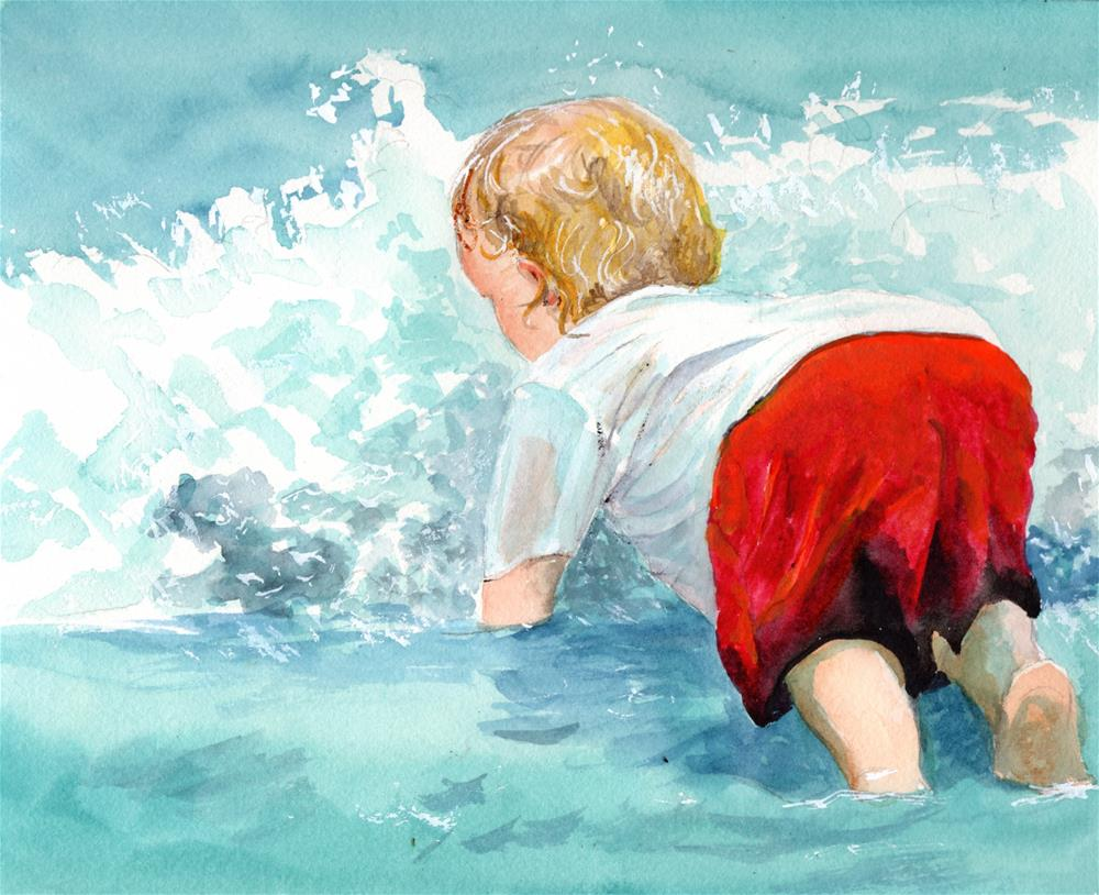 """""""PLUNGING IN"""" original fine art by Bunny Griffeth"""