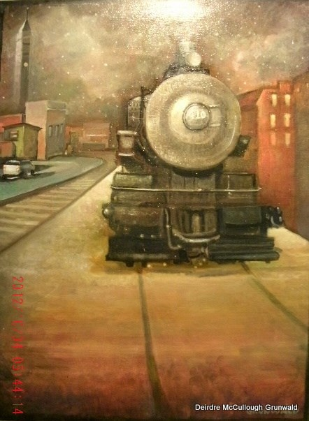 """Engine 409"" original fine art by Deirdre McCullough Grunwald"