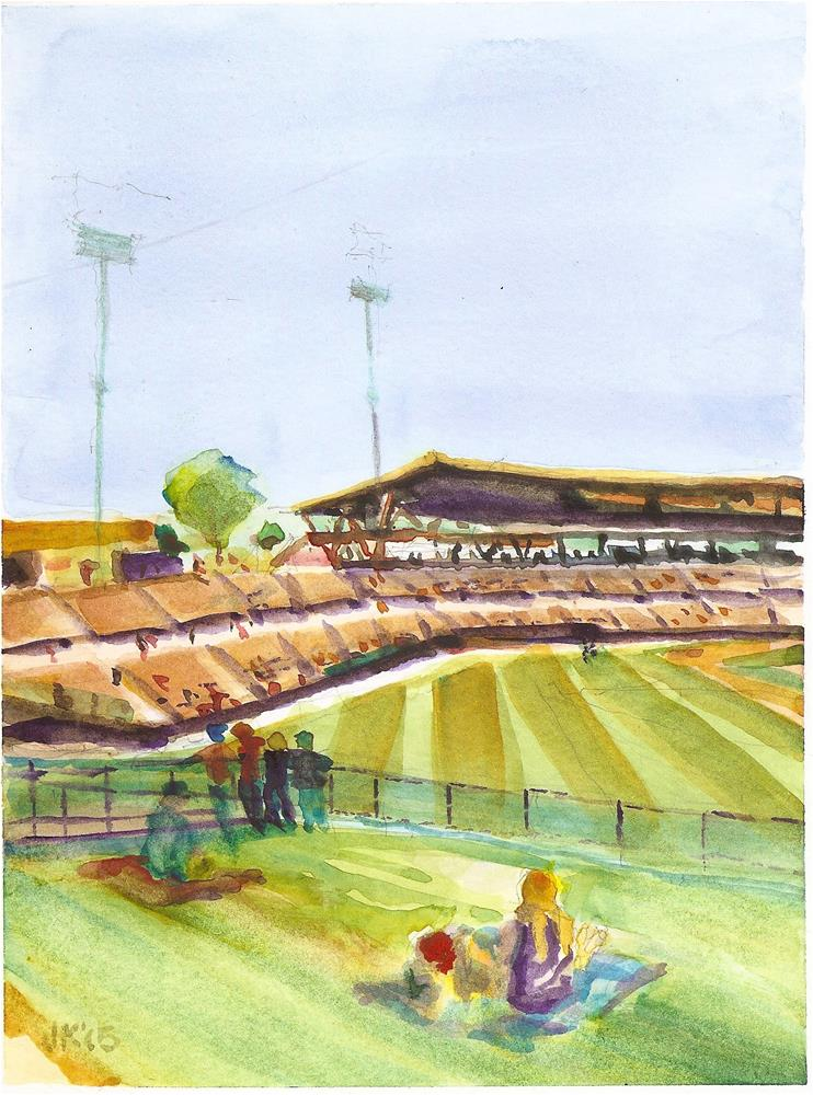 """Spring Training, Camelback Ranch, AZ"" original fine art by Jean Krueger"