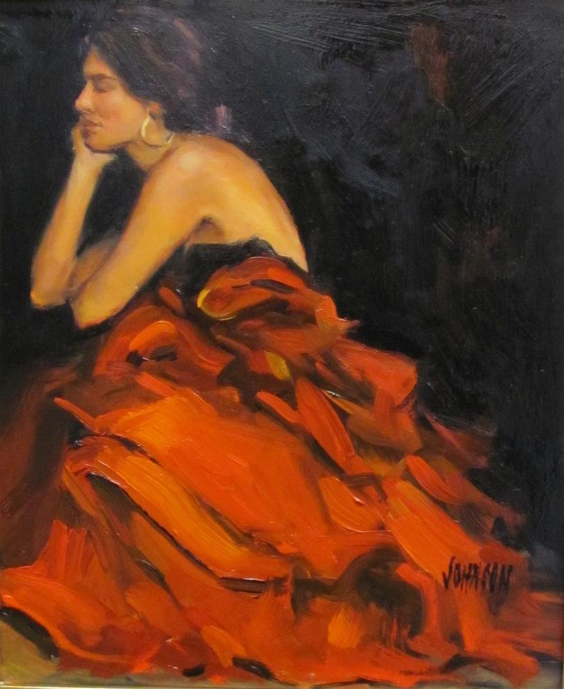 """The Red Dress"" original fine art by Laurie Johnson Lepkowska"