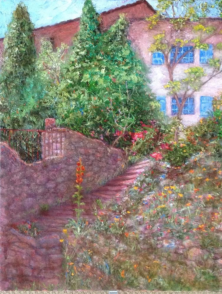 """Rock Garden "" original fine art by barbara yongue"