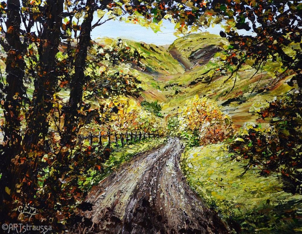"""Autumn Country"" original fine art by Gloria Ester"